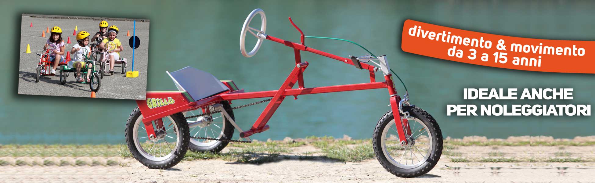 Grillo Bicicletta Tre Ruote